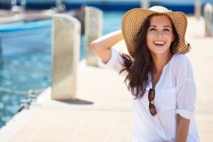 woman with attractive summer smile